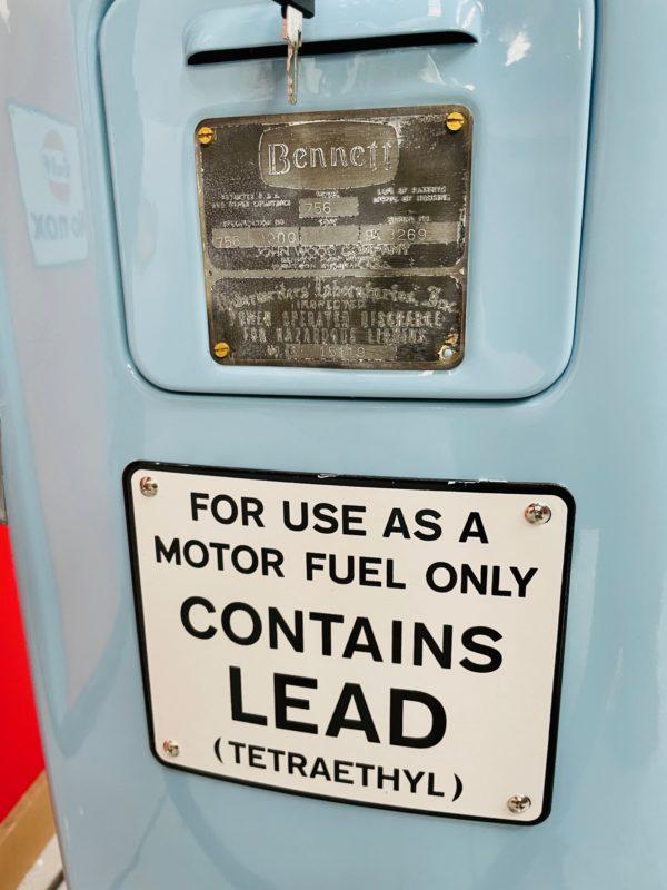 Pompe à essence américaine Gulf Bennett 756 restaurée