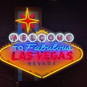 Enseigne neon Las Vegas Nevada 103 x 90cm