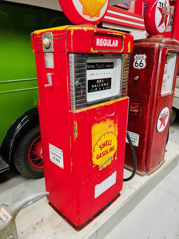 Pompe à essence américaine Shell
