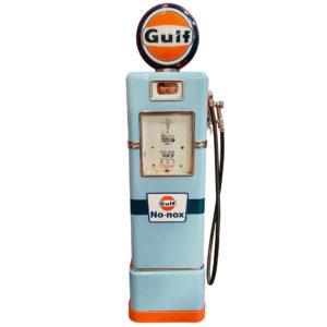 ancienne Pompe à essence américaine Gulf restaurée