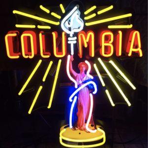 enseigne neon Columbia 66 x 77 cm