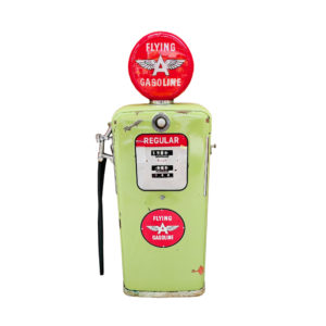 Pompe à essence américaine flying gasoline des années 50
