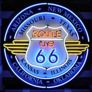 Enseigne neon route 66 all states100cm
