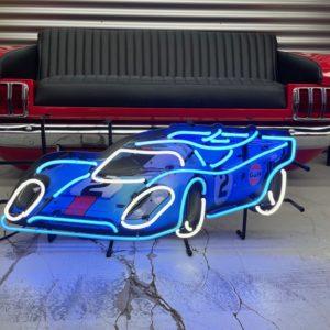 Enseigne neon Porsche 917 Gulf 80x35cm