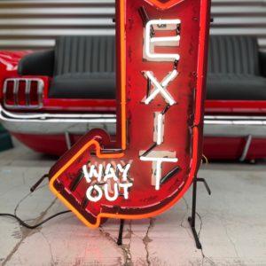 Enseigne néon EXIT way out 70x46cm.