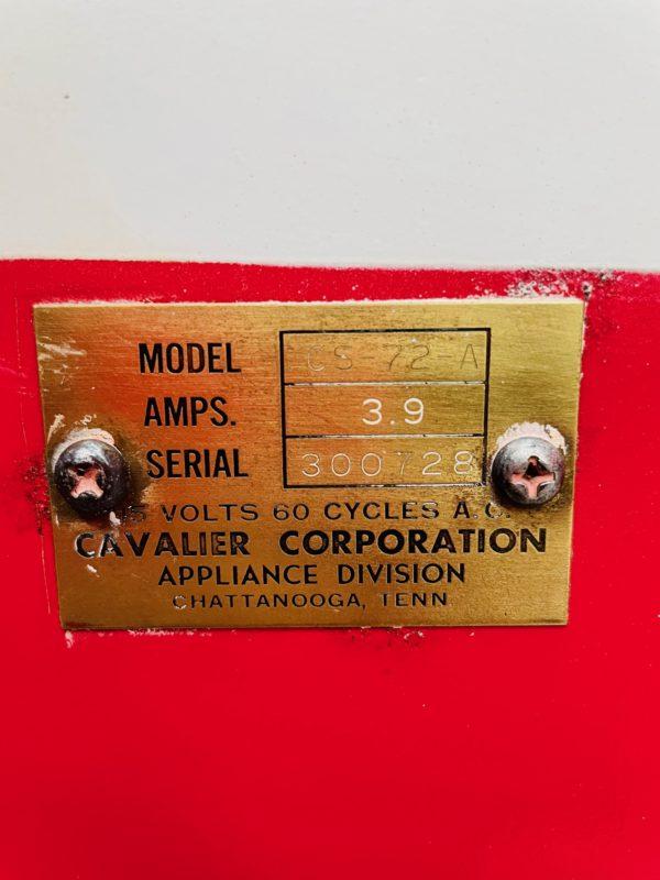 Distributeur Coca-Cola Cavalier 72 plaque authentification
