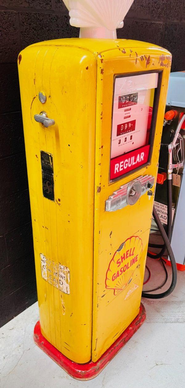 ancienne Pompe à essence Shell AO smith way