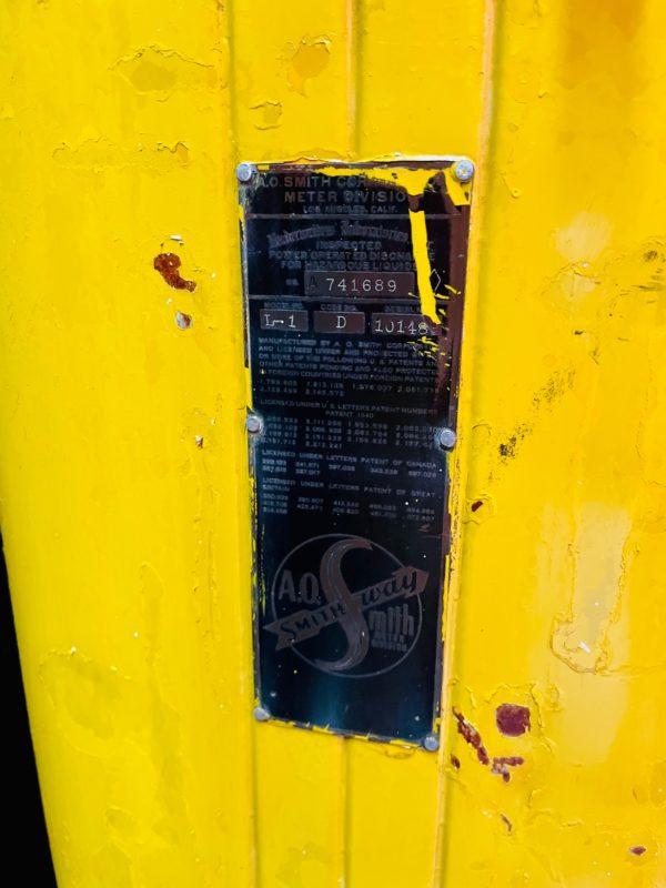 Pompe à essence américaine Shell AO smith way 1950