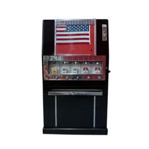 Distributeur de cigarettes américaine de la marque National des années 60.