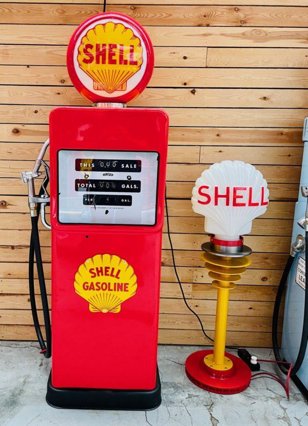 ancienne Pompe à essence Shell Américaine restaurée
