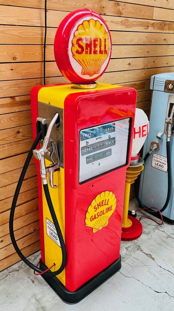 ancienne Pompe à essence Shell bowser restaurée