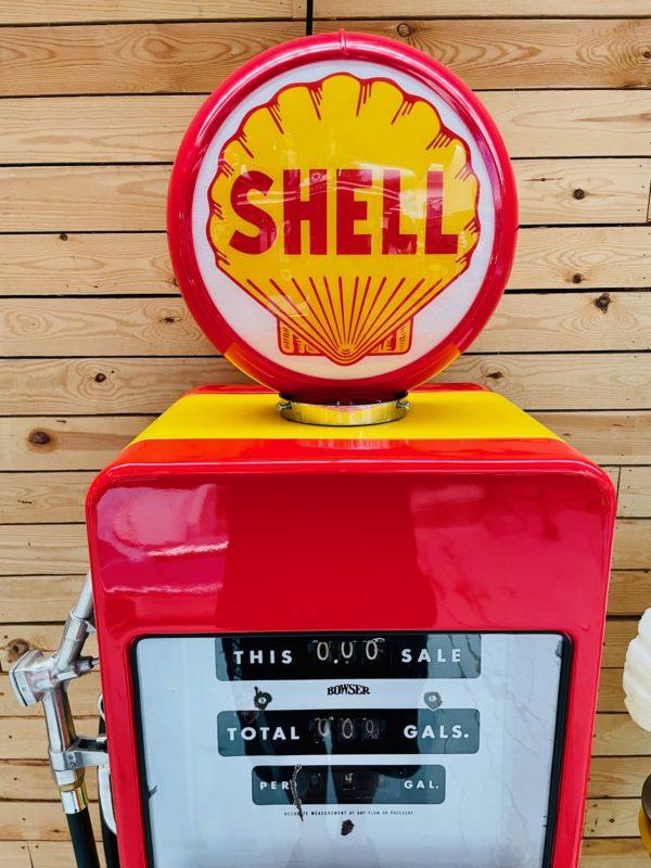 ancienne Pompe à essence américaine shell globe