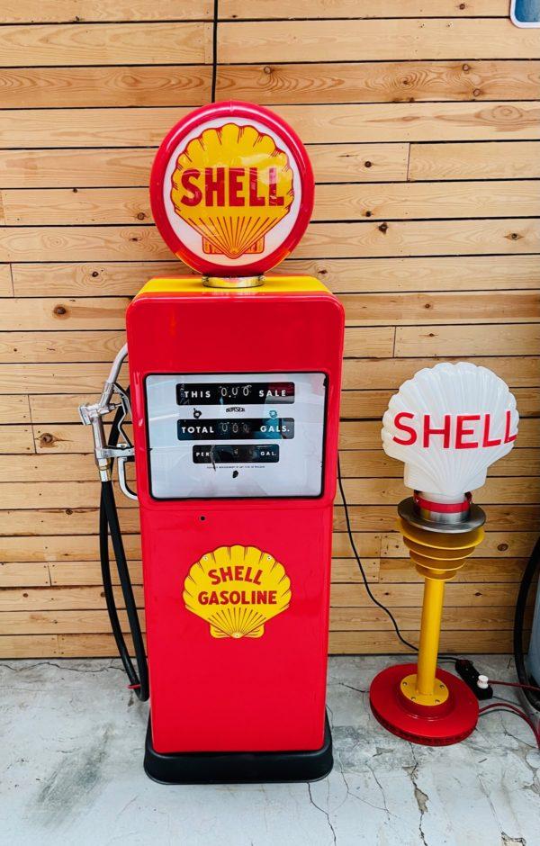 Pompe à essence Shell Américaine 1958 restaurée