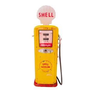 Pompe à essence américaine Shell dans son jus 1950